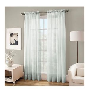 "Crushed Voile Platinum 108"" Sheer Curtain Panel"